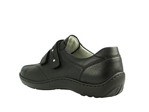 Waldläufer 496301–172–001, femme henni comfort (noir)