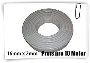 pEX-pE x fittings chauffage, 10 lfm 16x2 mm 16 10 M x 2 mm verbundrohr tube multicouche en poly/éthyl/ène r/éticul/é