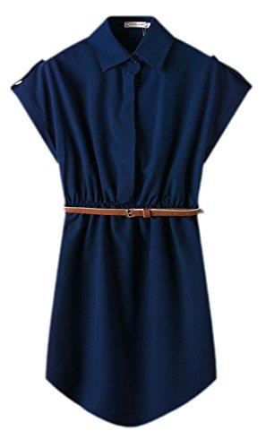 erdbeerloft - Vestido - Camisa - Opaco - para mujer Azul