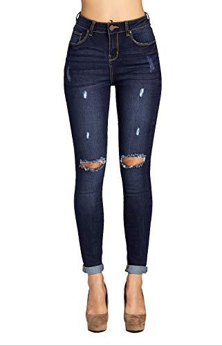 Blue Age Women's Well Stretch Destroyed Denim Skinny Jeans (JP1083CT_DK_5) (Butt Denim Lift)