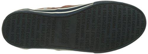 Tommy Hilfiger V2385ic 2d, Zapatillas para Hombre Rojo (Rust 202)