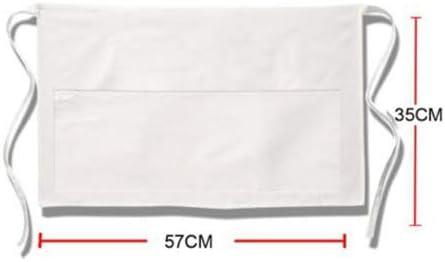 20/% Cotone 57 x 35 cm Bianco Unisex LEYENDAS Grembiule da Cucina Regolabile 80/% Poliestere