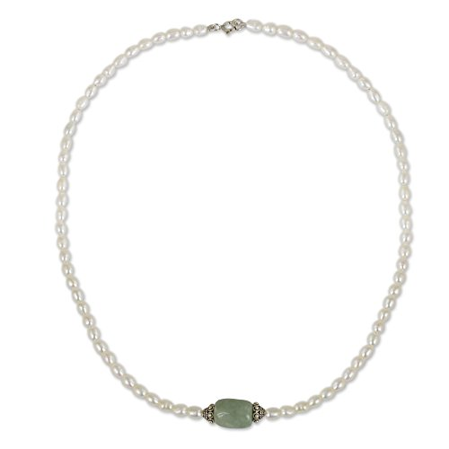 Cultured Pearl Jade Necklace - 5