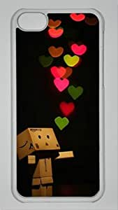 PC Hard Shell Colorful Love with Transparent Edges Skin for Iphone 5C Case