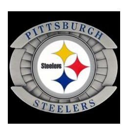 Steelers Buckle (Siskiyou NFL Pewter Belt Buckle - Oversized Buckle - Pittsburgh Steelers)