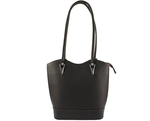 CHLOLY - Bolso mochila de Otra Piel para mujer marrón oscuro