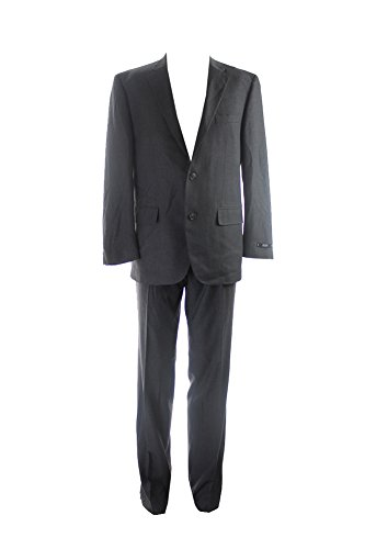 Alfani Charcoal Solid Regular Fit Suit S-W