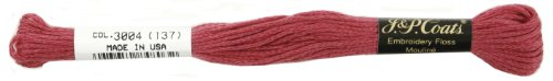C&C 6-Strand Embroidery Floss 8.75yd-Dusty Rose Very Dark