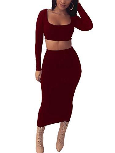 745eef04bd Jual GOKATOSAU Womens Sexy Long Sleeve Dresses