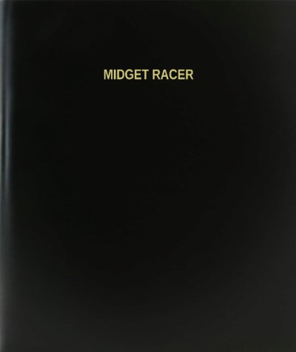 BookFactory Midget Racer Log Book / Journal / Logbook - 120 Page, 8.5