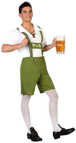 Atosa- Disfraz hombre alemán, Color verde, XS-S (18987)