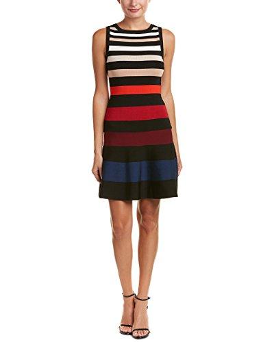 Karen Millen Womens Stripe A-Line Dress, - Millen Shop Karen