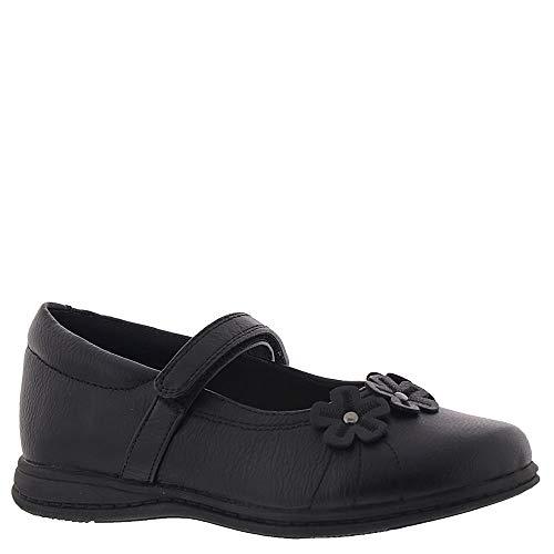Rachel Shoes Girls' Lil Kelsey School Uniform Shoe, Black Smooth, 7 M US Toddler
