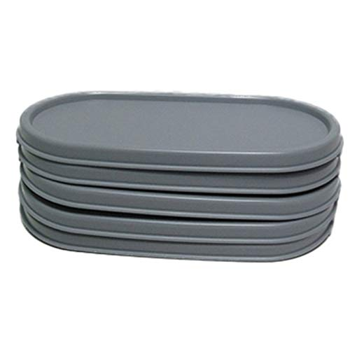 Tupperware Set of 5 Modular Mates OVAL Replacement Seals/Lids ONLY -Greystone -  Tupperware...