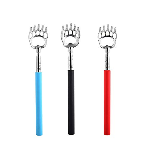 (WOVTE Bear Claw Telescopic Back Scratcher Pack of 3)