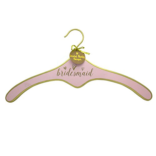 Bachelorette spbp450 Bride Wedding Bridesmaid Dress Hanger with Hearts, Pink