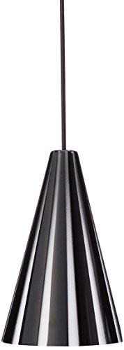 Besa Lighting RXP-138214-BR Kiki Collection 1-Light 12V Rail-Ready Mini-Pendant Element, Bronze Finish with Black Stripes Art Glass and Bronze Rail - Stripes White Bronze Pendant