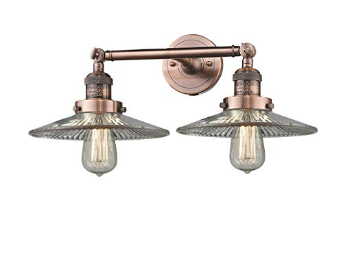 Innovations Lighting 2 Light Vintage Dimmable LED Halophane 19 inch Bathroom Fixture