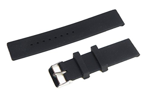 24mm Sports Silicone Watch Band Strap + 2 Pins + Tool For Sony Smartwatch 2 SW2 (Black) For Sale