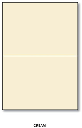 Cream - A2 Foldover Greeting Cards (4 1/4 X 5 1/2) 50 Per Pack