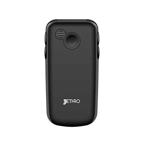 Jethro [SC729] 3G Unlocked Flip Senior & Kids Cell Phone, M4/T4 HAC Hearing Aid Compatible, FCC/IC Certified, SOS Emergency Button, 2.4'' LCD and Large Keypad w/Charging Cradle by Jethro (Image #1)