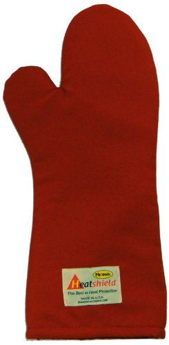 Phoenix 18-Inch Conventional Oven Mitt, Red Heatshield, Package of 2