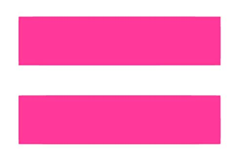 Math Equal Sign Marriage Equality (Pack of 2) Vinyl Sticker Decals for Car Bumper Window MacBook Laptop [Pink, 11
