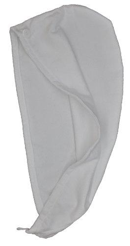 Eurow Microfiber Hair Towel Turban Wrap - White - 1 Pack