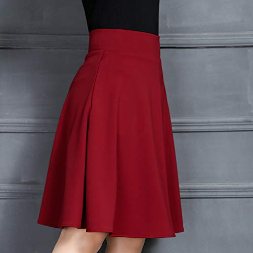 En Dissa Rojo Trapecio Falda Mujer Corte Para O A W6fI6ZqSg