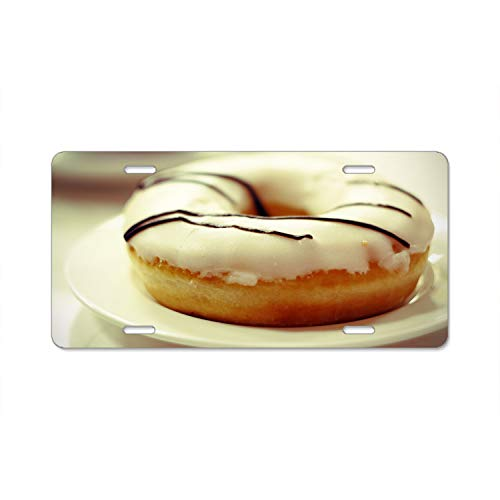 Glaze Estate (Irma Boyle Donut Sweet Glaze Chocolate Firefighter Lives Matter Flag License Plate Novelty Auto Car Tag Vanity Gift for Fire Fighters)