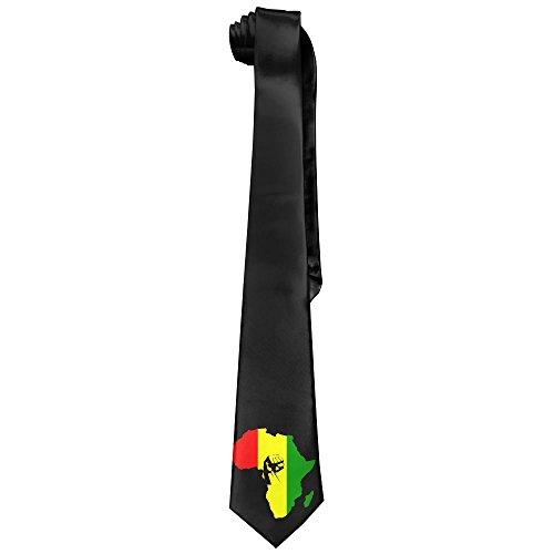 Reggae Tie - AFRICA Power Rasta Reggae Men's Tie Long Necktie Skinny Neckwear Silk