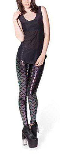 Starsource Mermaid Printed Stretch Leggings