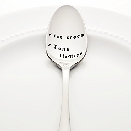 Ice Cream / John Hughes - Checklist Style Stainless Steel Stamped Spoon, Stamped Silverware - Unique Throwback 80s Birthday Gift for - List Weird Holidays Of