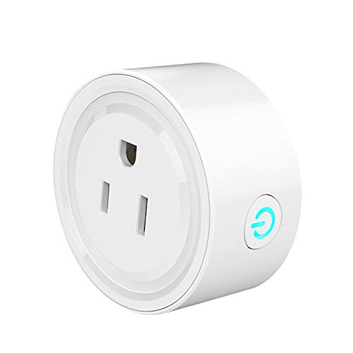 Smart Plug, Mini Outlet Plug Wifi Socket with Timing Function, No Hub Required, Remote Control Devices from Anywhere, Compatible with Alexa, Kids Room Assistant by Kulussy (White) by KULUSSY