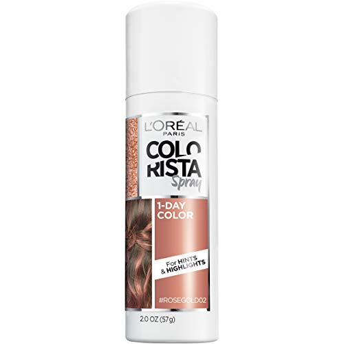 L'Oreal Paris Hair Color Colorista 1-Day Spray, Rosegold, 2 -