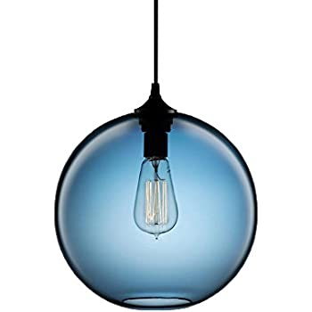 Newrays Hanging Globe Glass Pendant Lights Lighting Fixtures For Kitchen Island(Light Blue)  sc 1 st  Amazon.com & Kenroy Home 93102CH Darcy 1-Light Pendant Fixtures - - Amazon.com azcodes.com
