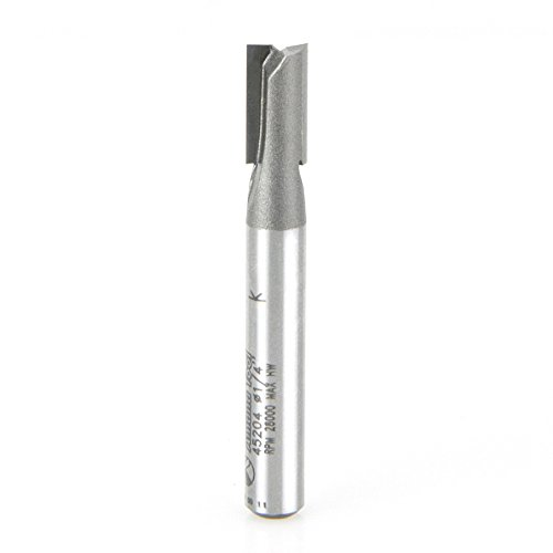 aight Plunge 2-Flute Carbide Tipped Router Bit, 1/4-Inch Shank (Plunge 2 Flute)