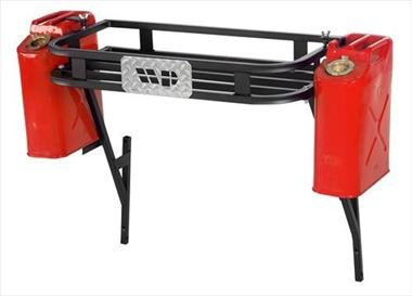 Warrior Products 833 Adventure Rack with or without Fixed Mount Tire Carrier for Jeep YJ ()