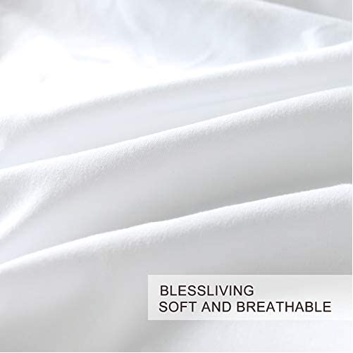 BlessLiving 3D Modern Pattern Bedding Set Duvet Cover Set Pastel Rainbow Marble Printed Comforter Cover 3 Pieces Bed Sets with 2 Pillow Cases (Twin) 2