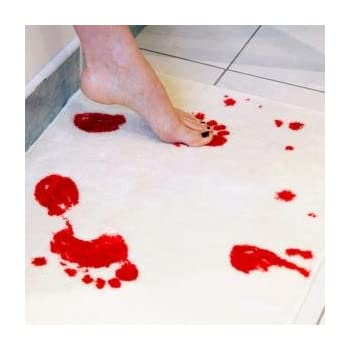 Amazon Com Bloody Bath Mat Color Changing Sheet Turns