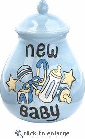Ceramic Wishing Pot -New Baby Boy Bank   B001G8F1OK