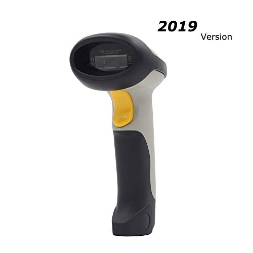 Inateck 2.4GHz Wireless USB Automatic Barcode Scanner Handheld Bar-code Reader (2.4GHz Wireless & USB2.0 Wired) USB Rechargeable Bar-code Hand Scanner Storage of up to 2600 Code Entries