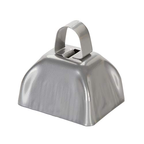 Darice 3 inch, Metal Cow Bell, Silver