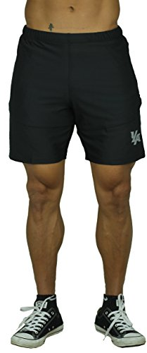 YoungLA Mens Workout Shorts Casual Gym Athletic Activewear Bodybuilding w/Zipper Pockets 111
