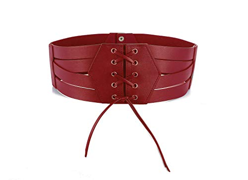 Wide Elastic Belts for Women Plus Size Yoga Bow Stretch Leather Dress Designer Sash High Waist Red Corset Girls Gifts