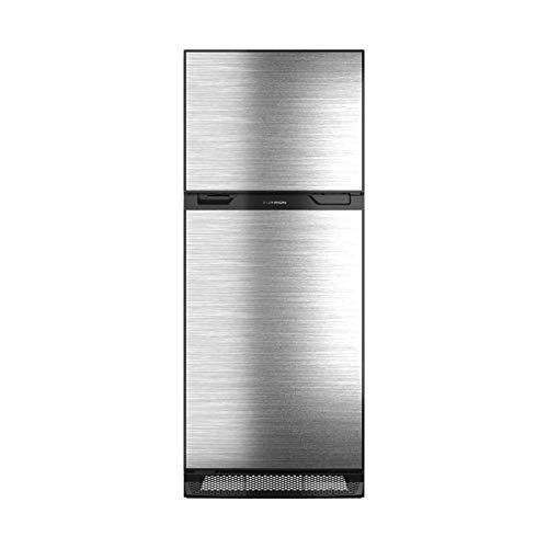 Furrion 10 cu.ft. Furrion Arctic 12 Volt Right Hinge Built-In Refrigerator (Black) for RV, Camper or Trailer with Independent Freezer – Stainless Steel Door Panel – FCR10DCDTA-BL-SV