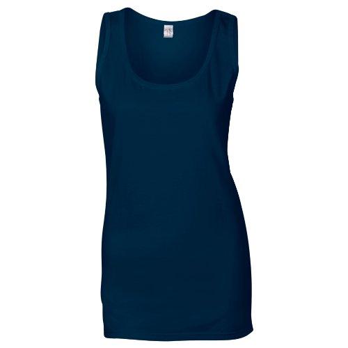 GILDAN - Camiseta sin mangas - para mujer azul marino