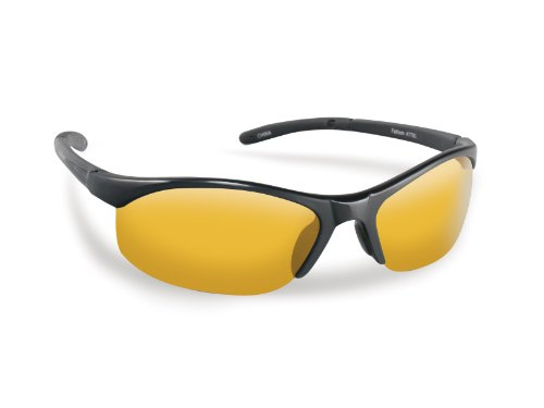 Flying Fisherman Bristol Polarized Sunglasses (Matte Black Frame, Yellow-Amber - Flying Sunglasses