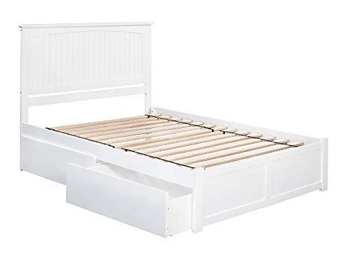 Atlantic Furniture AR8252112 Nantucket Bed, King, White