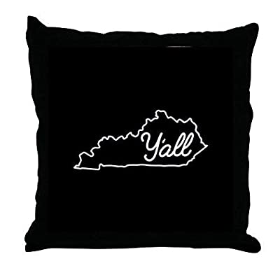 Pattebom Home Decor Kentucky Y'all Canvas Pillow Covers 18 x 18 Decorative Farmhosue Decor Throw Pillows with Zip Couch Cushion Covers Funny Gifts